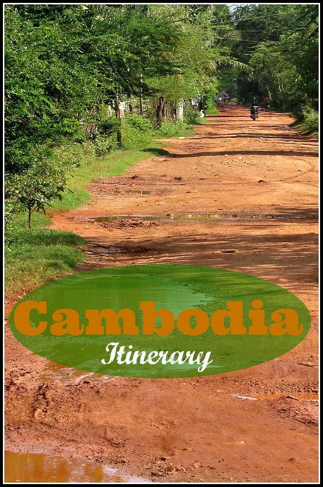 Red dirt road outside of Kampot Cambodia