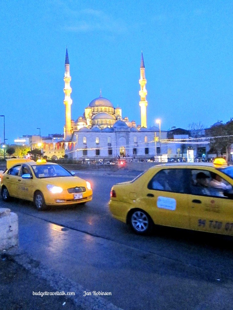 Istanbul Taxis and New Mosque