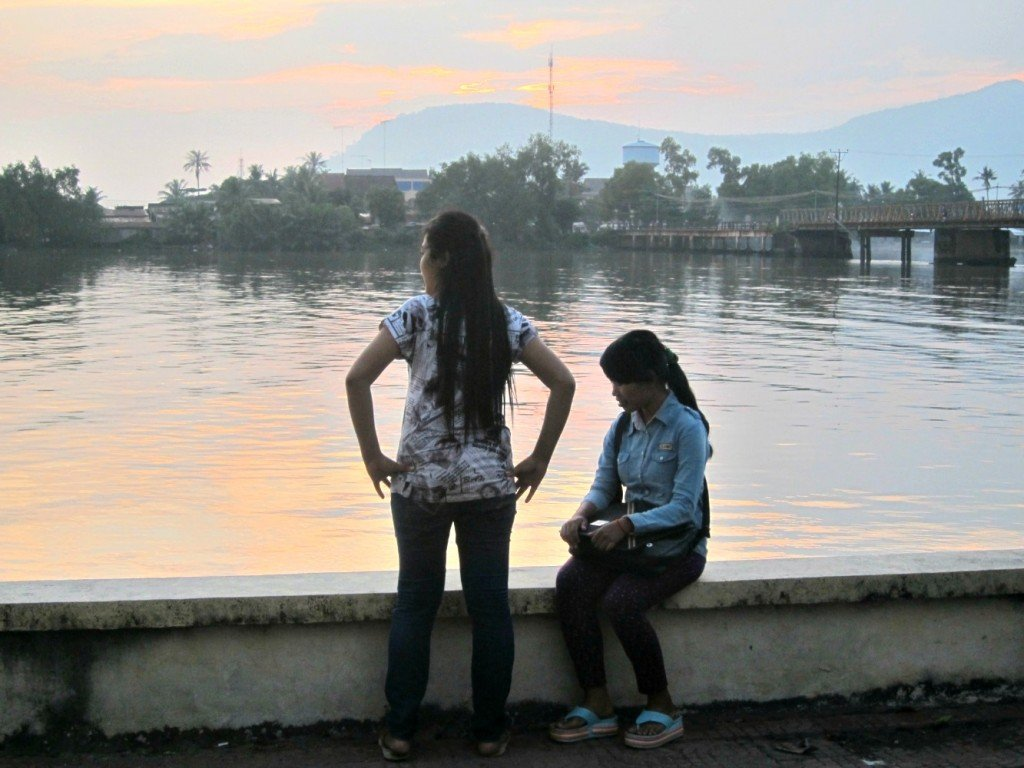 Kampot People at Sunset