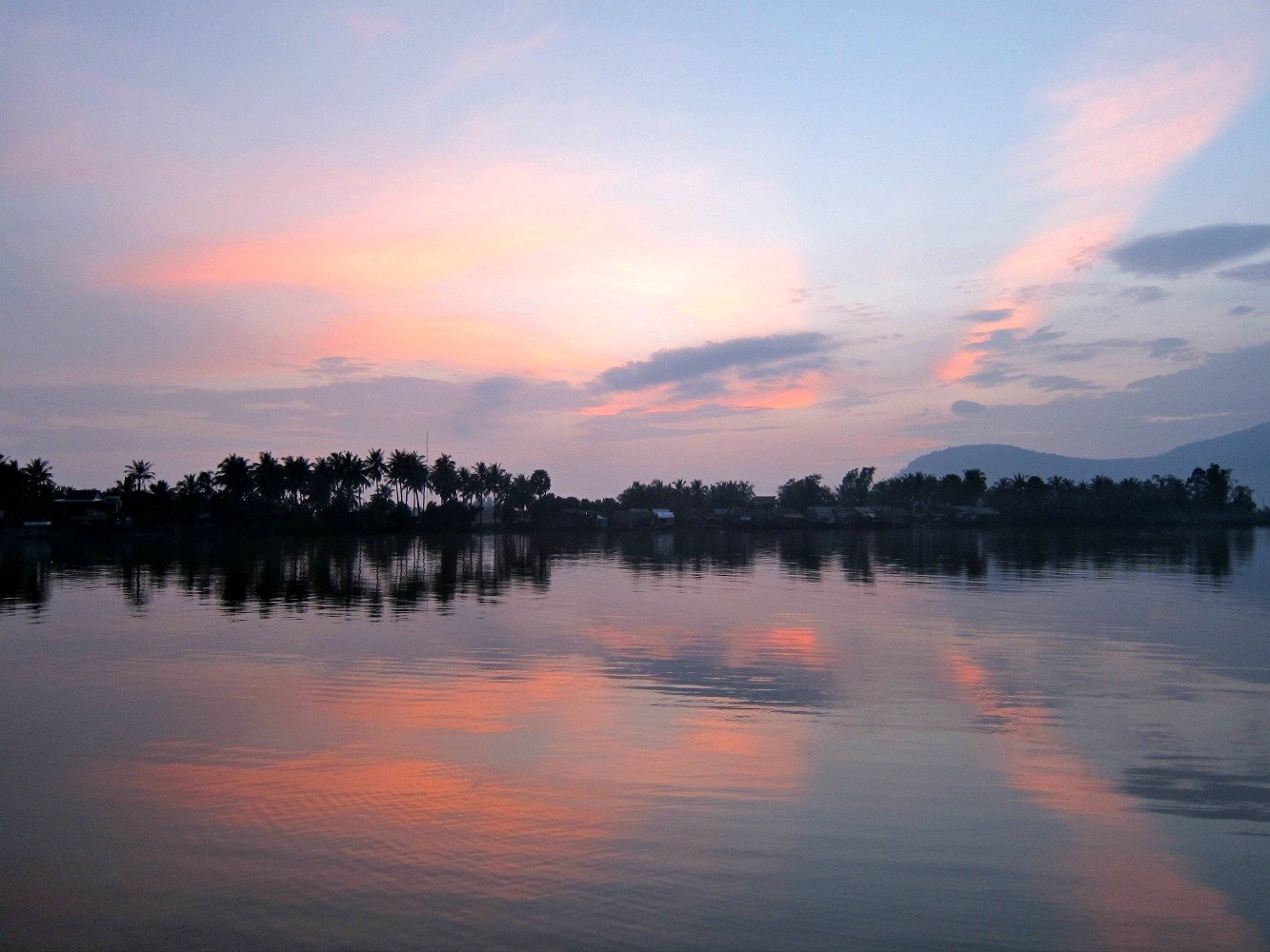 Kampot River Mauve Sunset