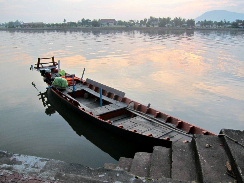Kampot Riverboat at Sunset