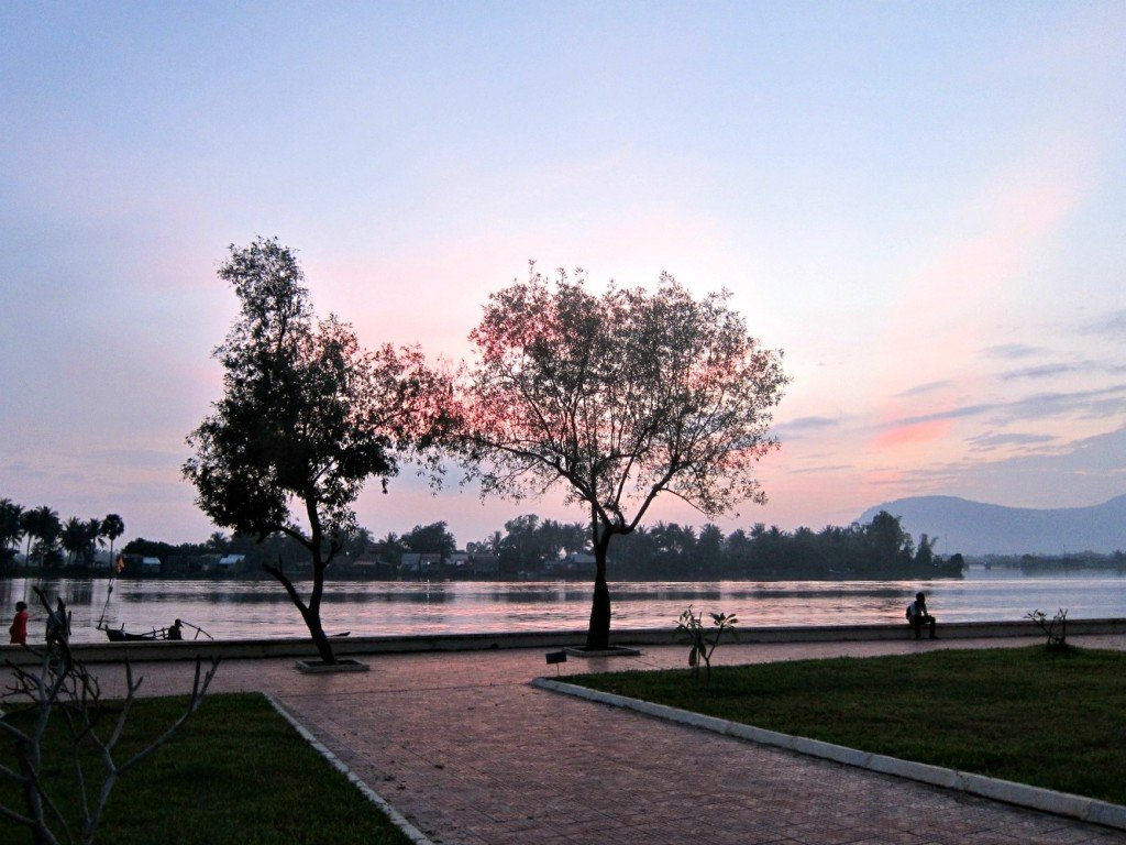 Kampot Trees in Sunset
