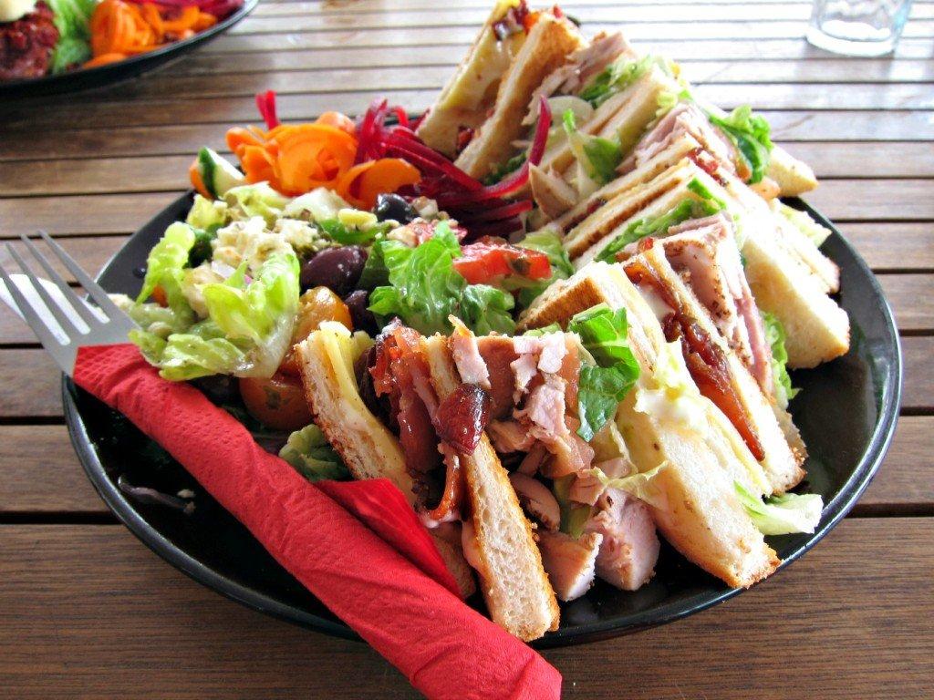 Relish Cafe - Canadian Sized Club Sandwich