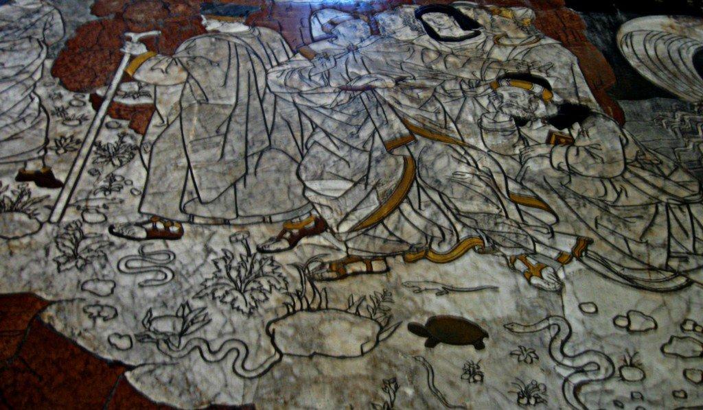 Marble floor panel