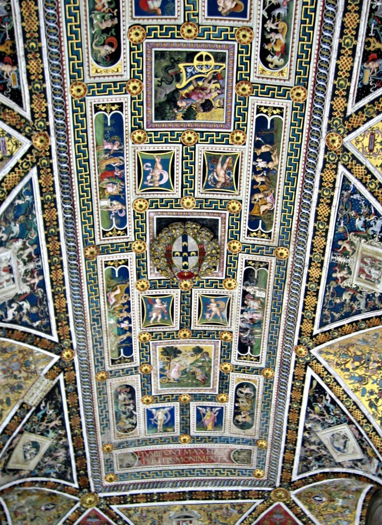 ceiling of the Duomo Library