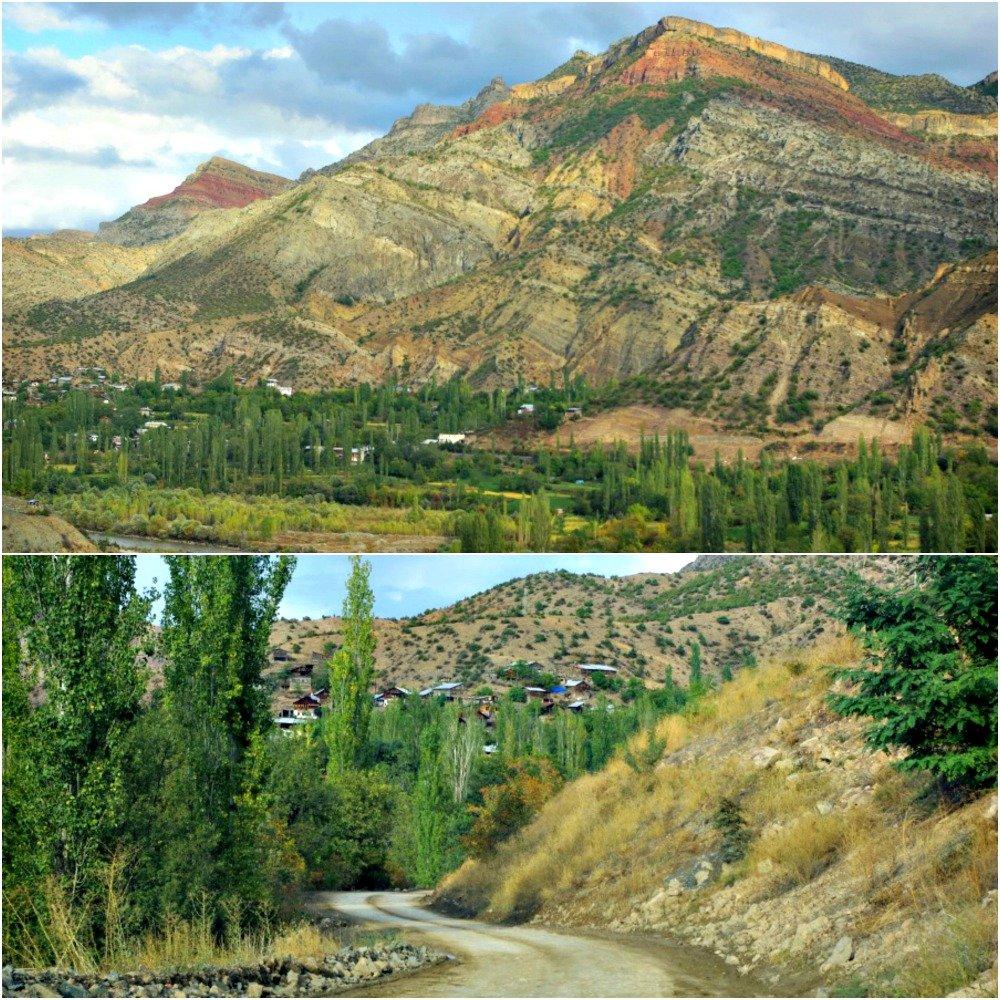 Road Ispir to Yusufeli in Eastern Turkey