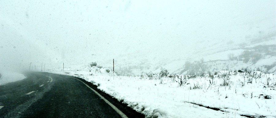 Eastern Turkey Road Trip Day 1 Snowy Road