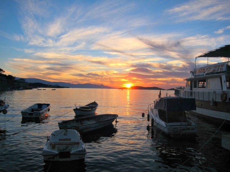 Foca Harbour Sunset, Turkey
