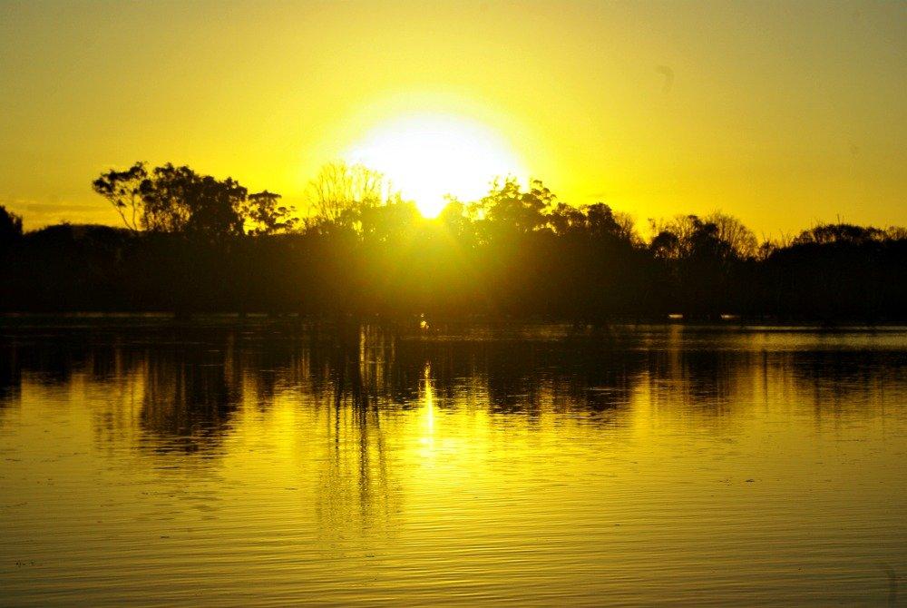 Peter Faust Dam Sunset