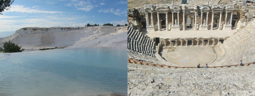 Pumakkale Travertines and Hierapolis Roman Theatre