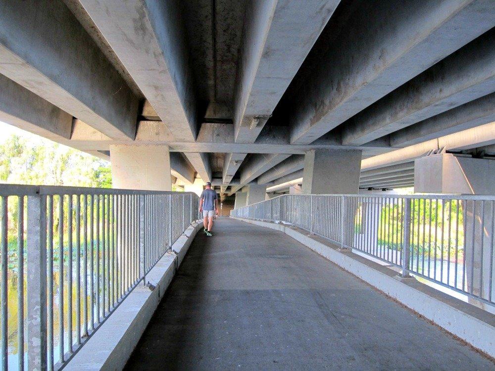 Riverway Pedestrian Bridge under Vickers Bridge