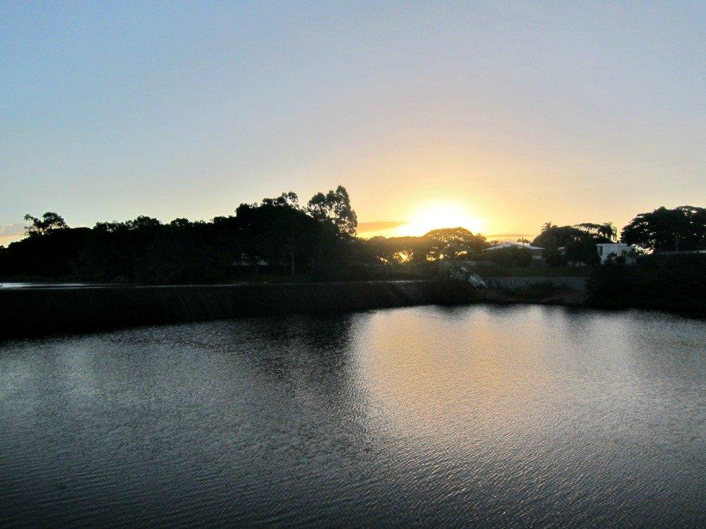 Sunset over Weir School