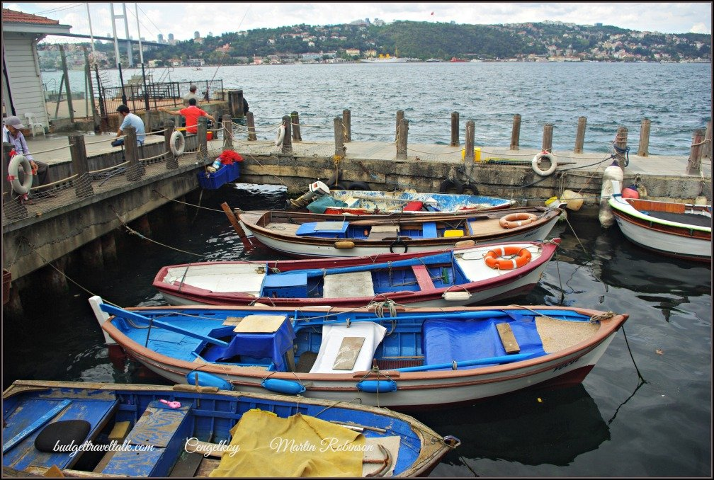 Boats on the Bosphorus at Cengelkoy Istanbul