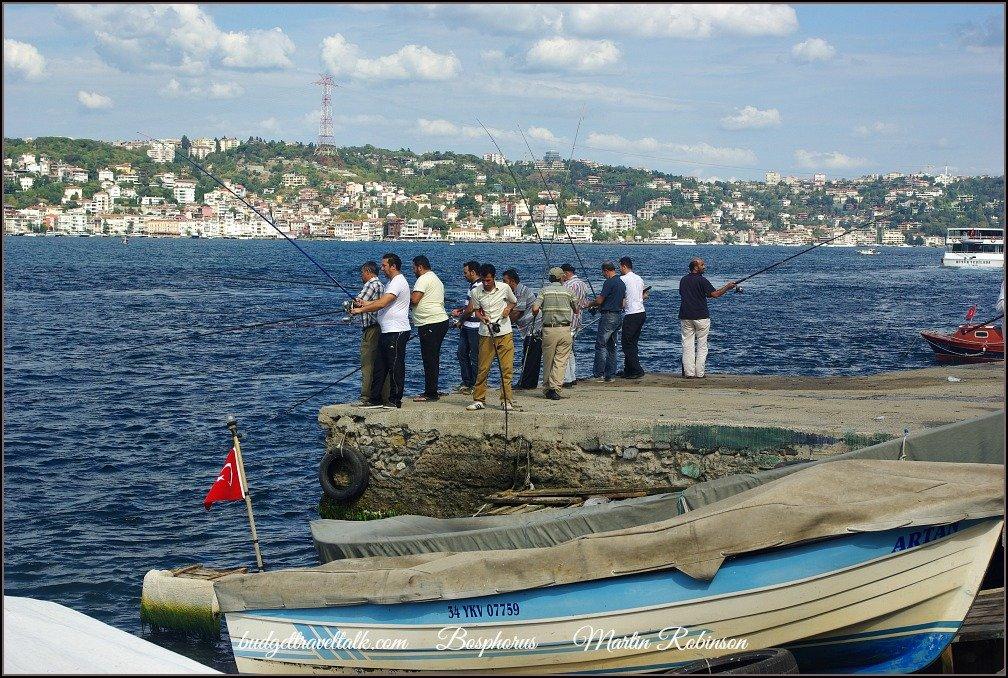 Cengelkoy Bosphorus Fishermen Istanbul
