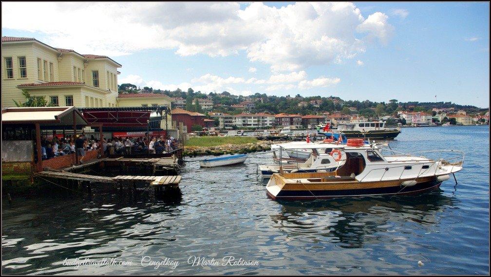Cengelkoy Crowded Cinaralti Tea Garden Istanbul