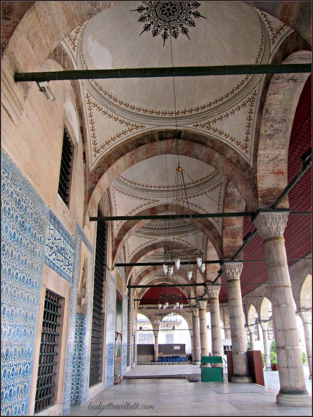 Rustem Pasha Hidden Mosque Portico Istanbul