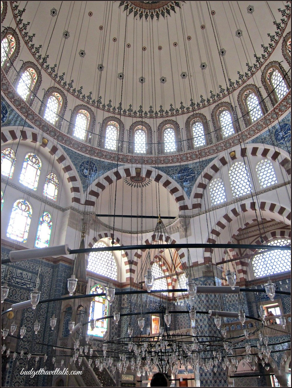 Rustem Pasha Hidden Mosque Dome and lights Istanbul