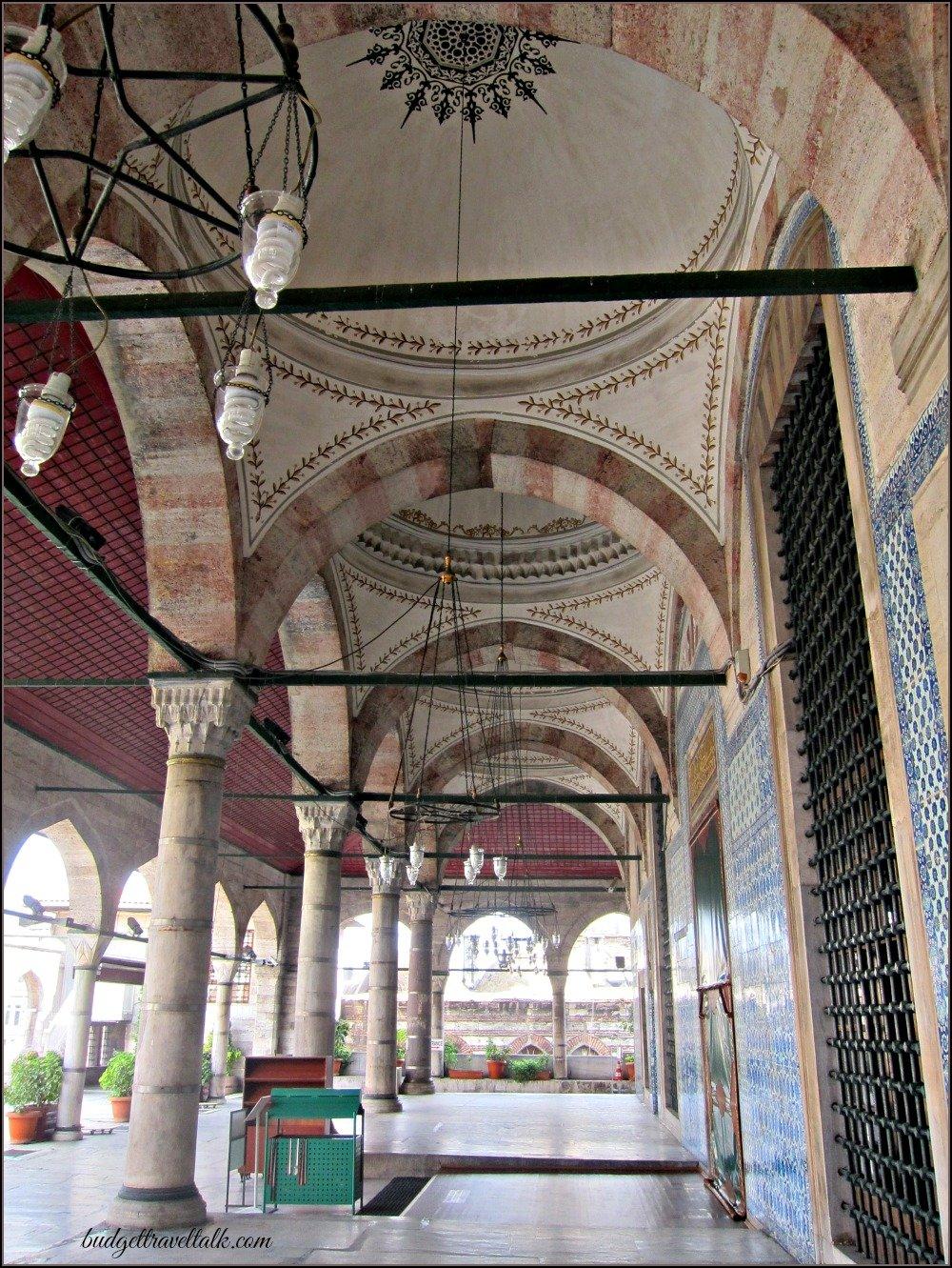 RustemPasha Hidden Mosque Portico Istanbul.