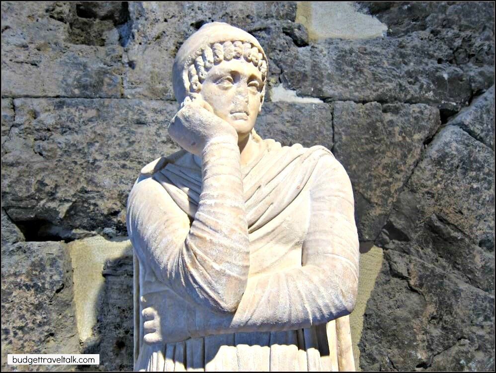 Roman Statue from the Museum at the Roman Ruins of Hierapolis