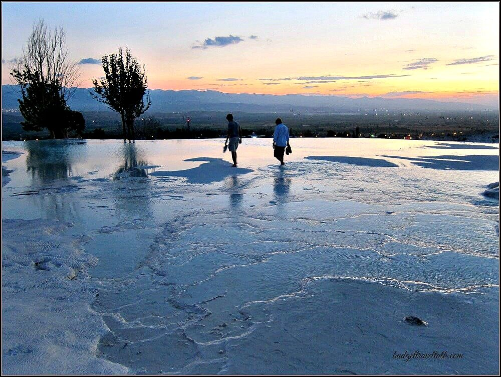 Pumakkale Springs at Sunset