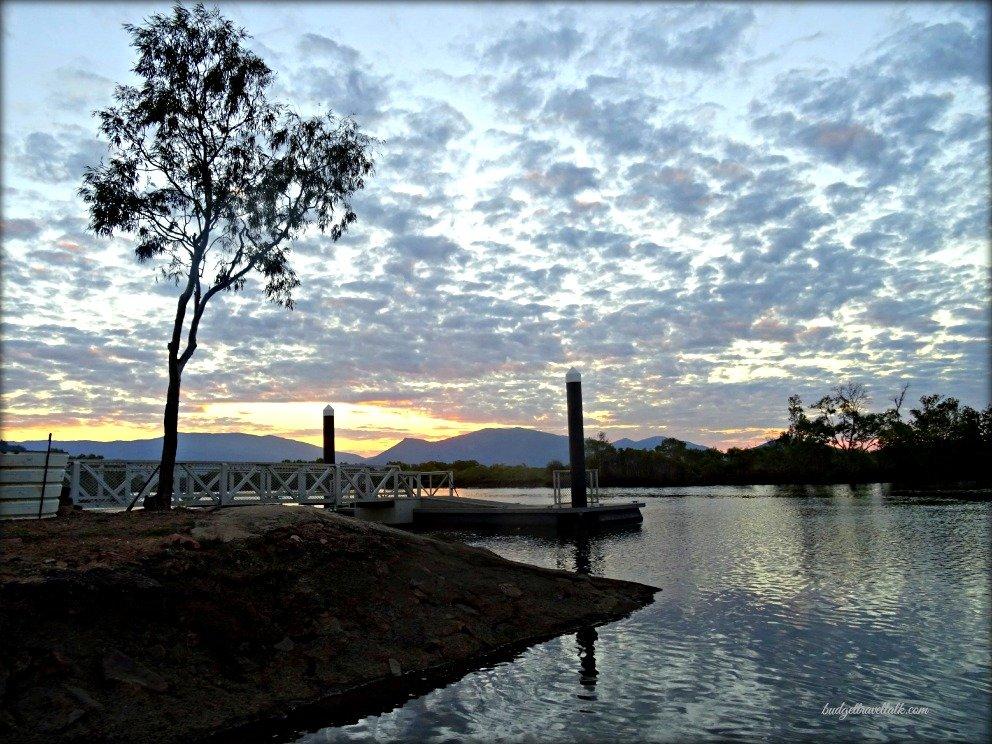 Morris Creek Boat Ramp at Sunset