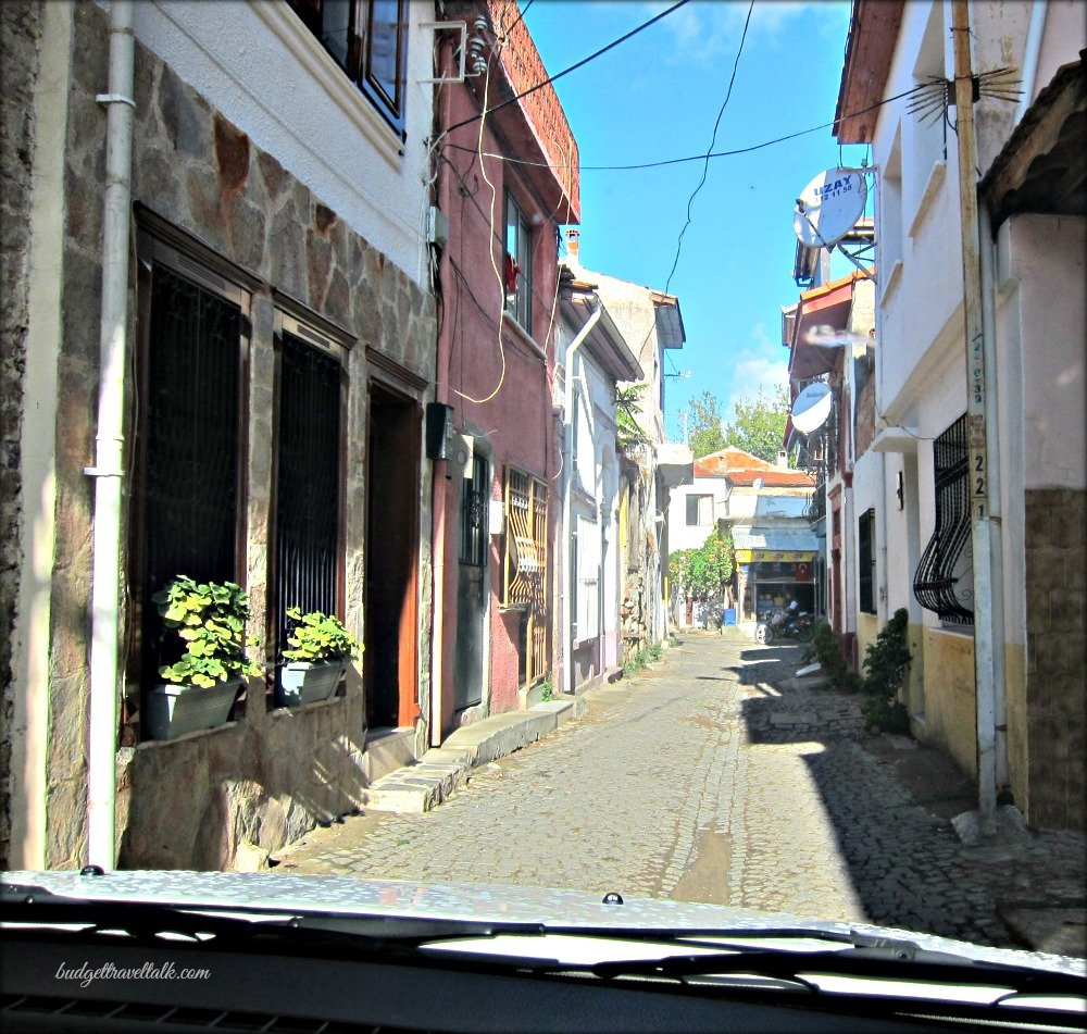 Ayvalik through the windscreen