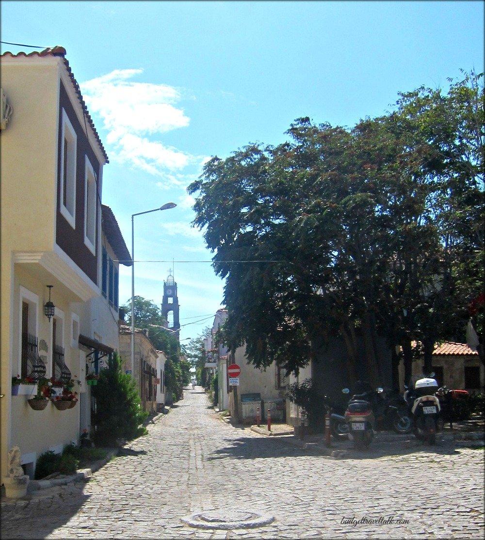 Bozcaada Cobblestones & Church on Bozcaada Island