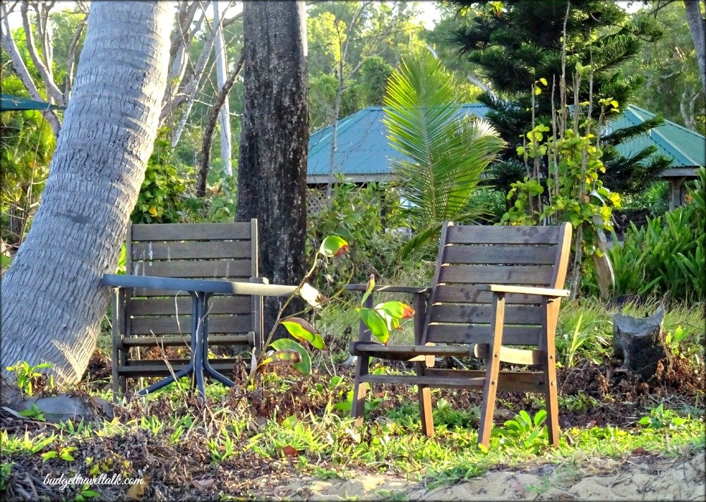 Wongaling chairs on the beach