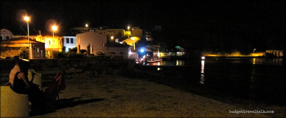Bozcaada Harbour at night