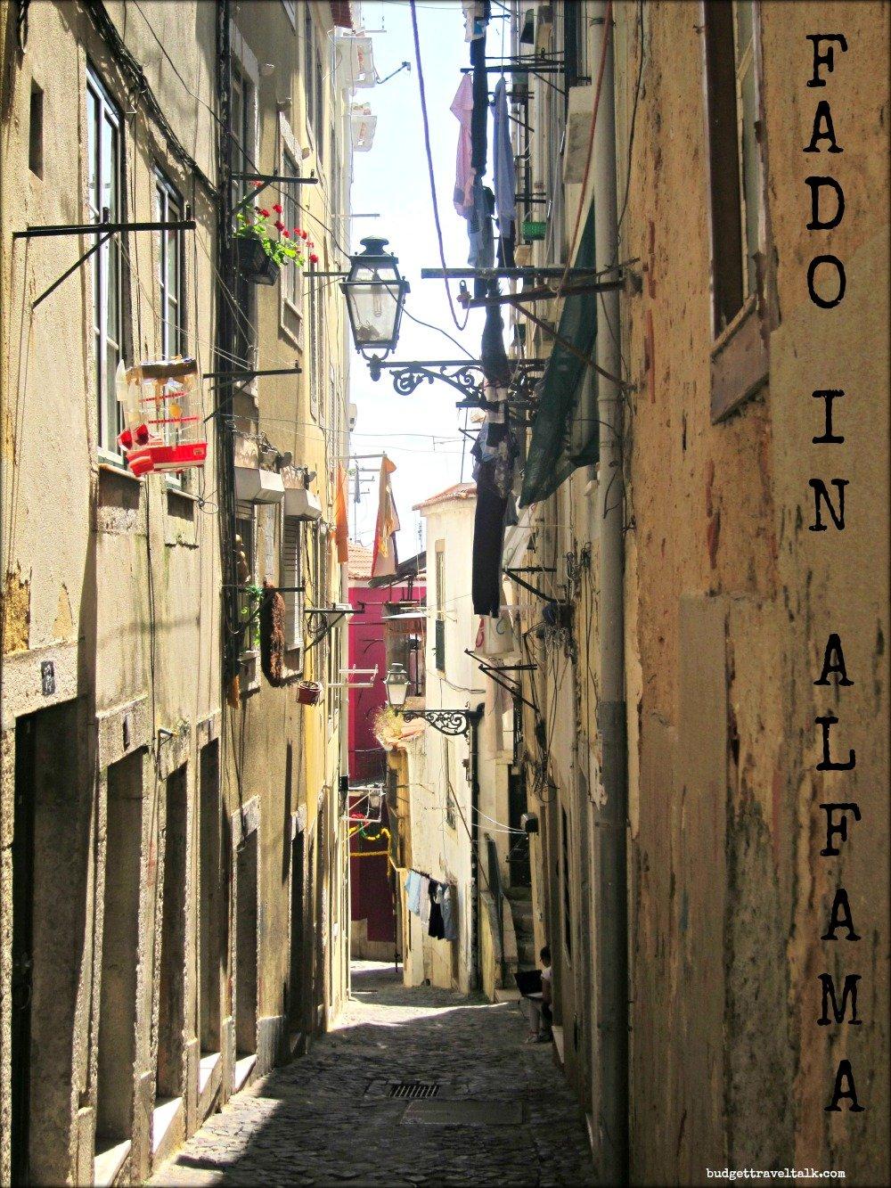 Fado in Alfama, Lisbon