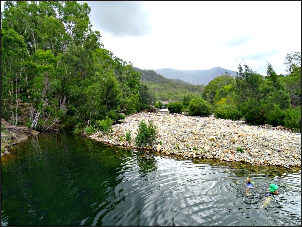 Swimming in Paradise (Waterhole) north of Townsville in North Queensland