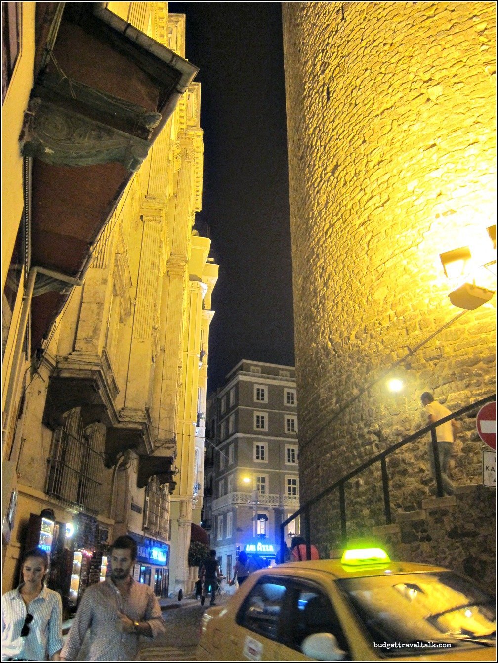 Galata Tower Night Close Up