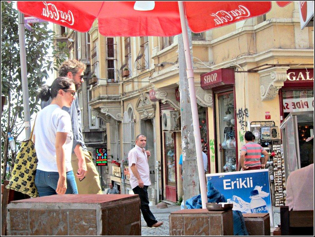 Galata street from Doner Kebab Salonu