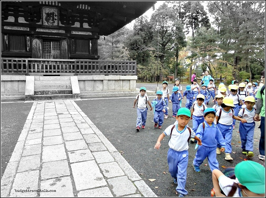 Ninna-Ji Kids on Excursion
