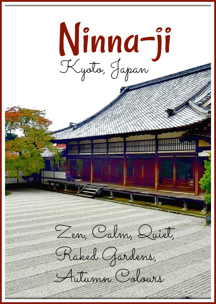 Ninna-ji Temple Kyoto Japan is a quiet Buddhist retreat guarded by Nioman