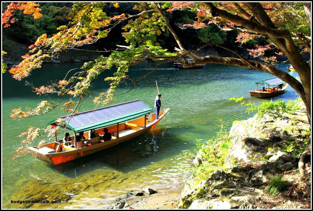 Arashiyama Boat beneath Tree