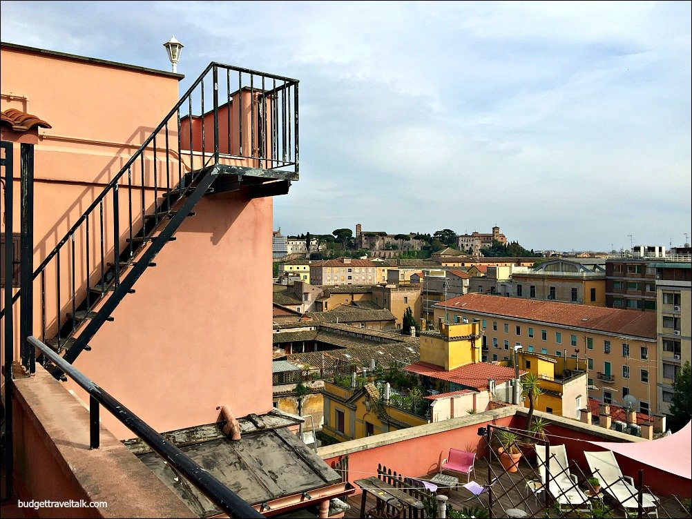 Rome Parco Savello from Rooftop