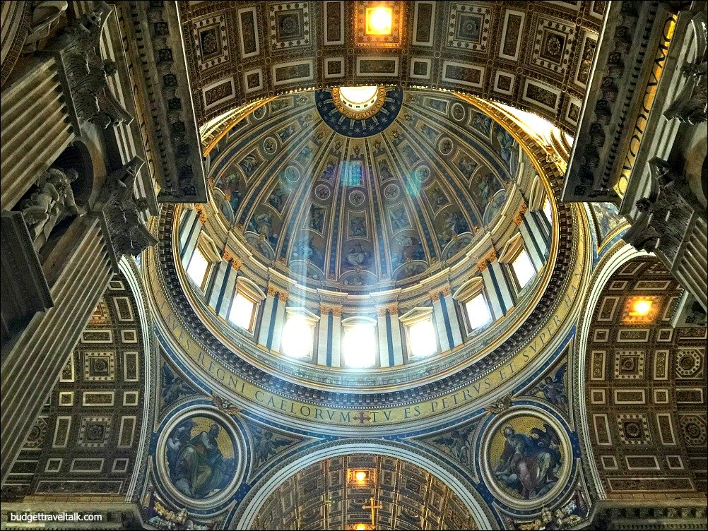 Rome St. Peters Dome from beneath