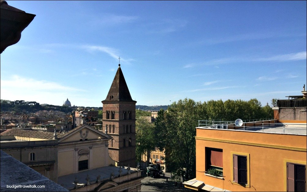 Travestere Rooftops toward St. Peters