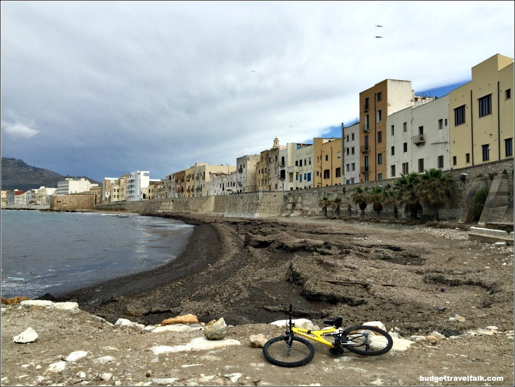 Trapani Waterfront with bicycle