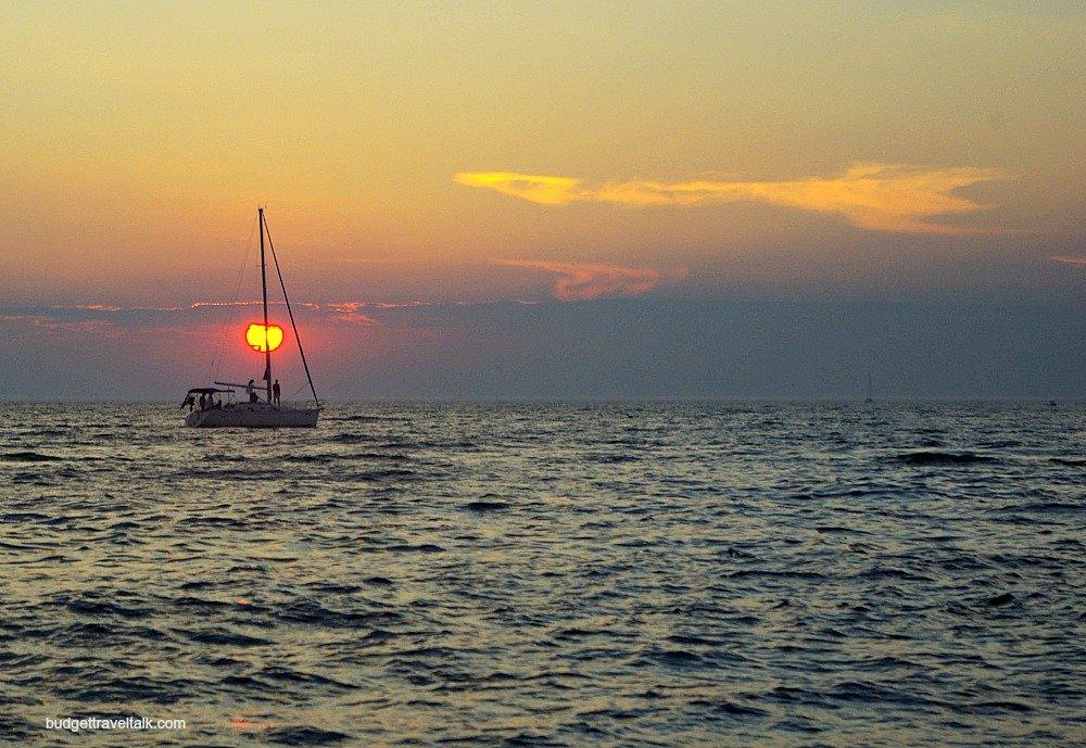 Zadar Boat at Sunset M