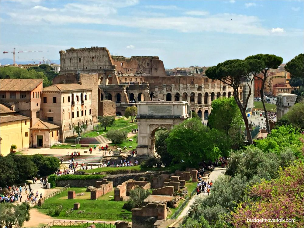 Colosseum and Forum from the Palatine