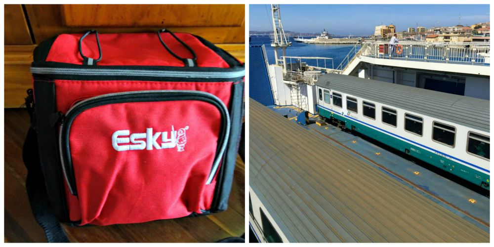 Esky and Train on Boat