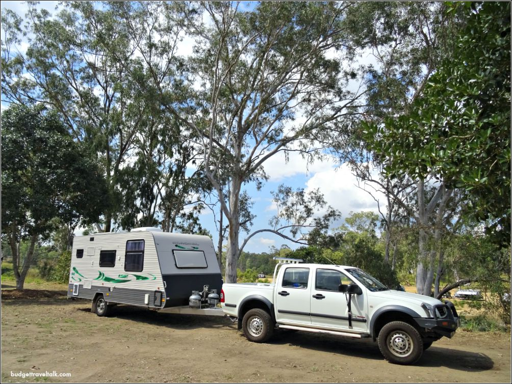 Caravan at Calliope River Queensland