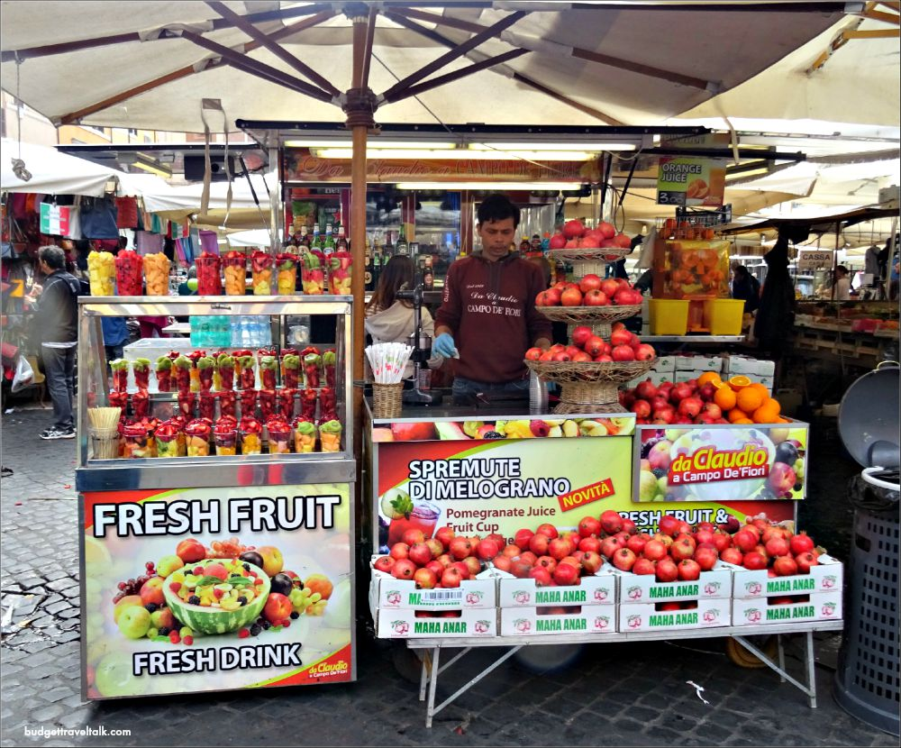 Rome Campo de' Fiori Fruit in a Cup
