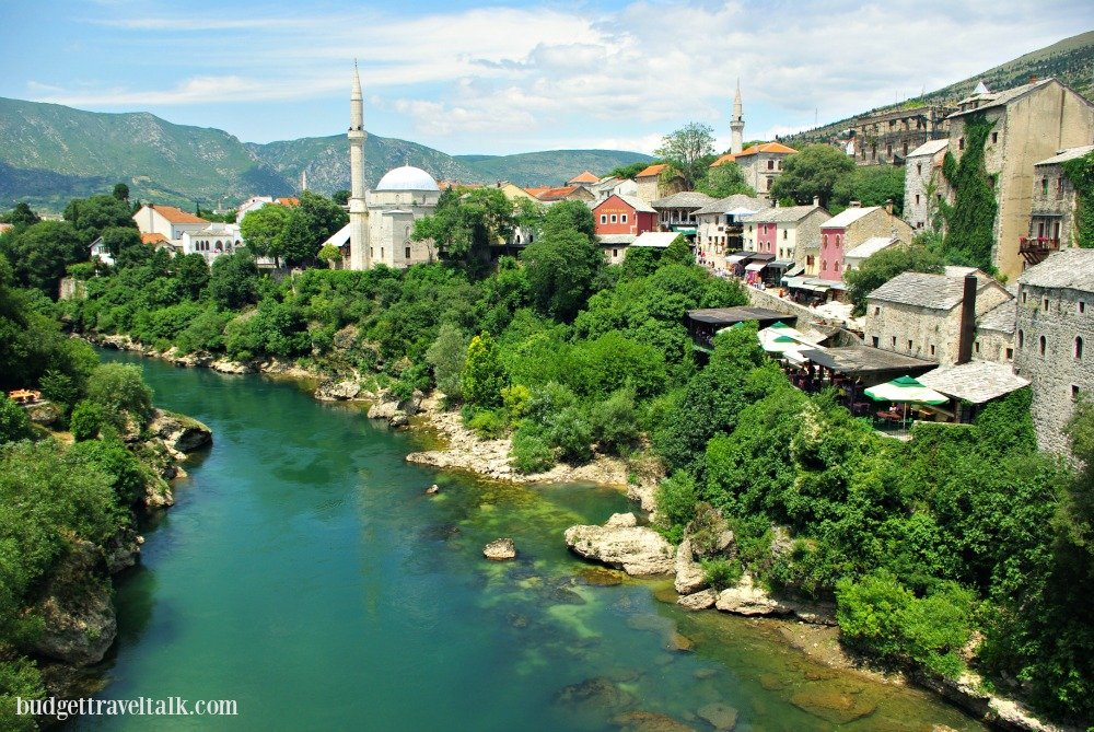 BiH Mostar Mosque and River