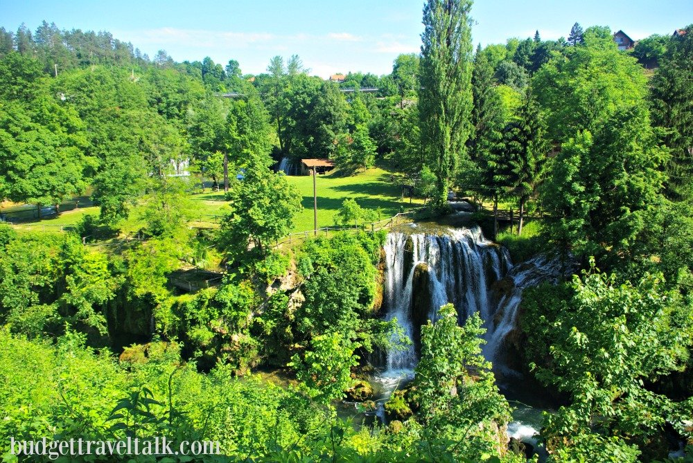 Waterfall at Rastoke Croatia is a taste of Plitvice Lakes
