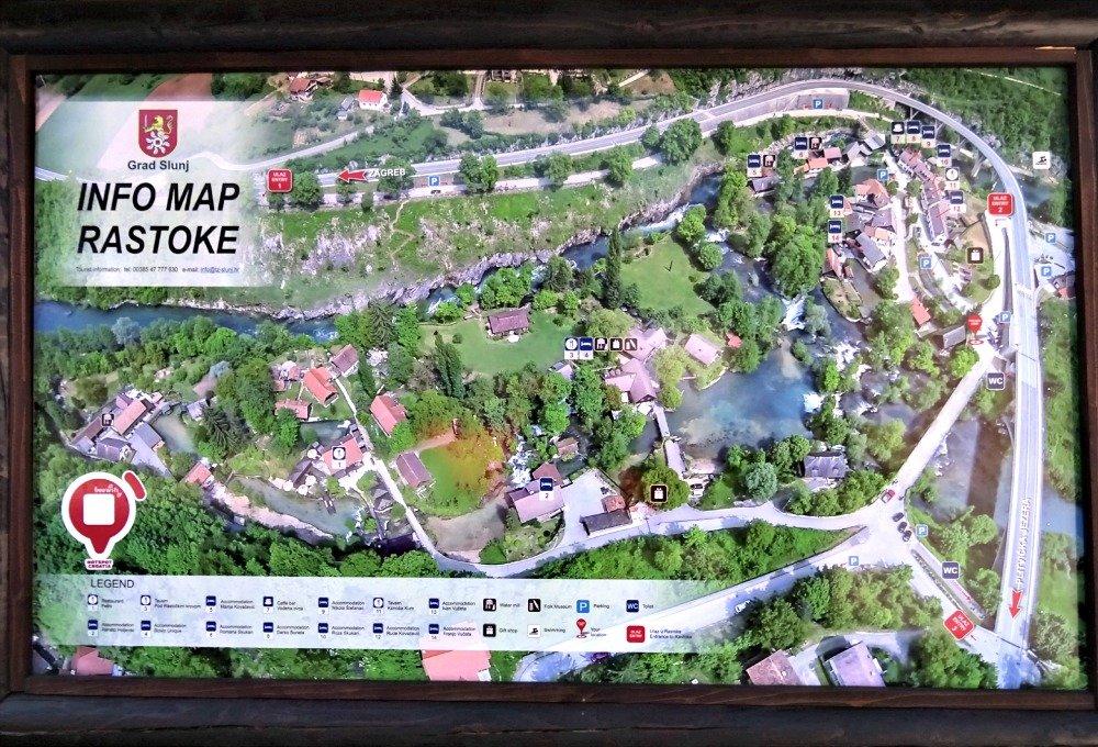 Rastoke Info Map