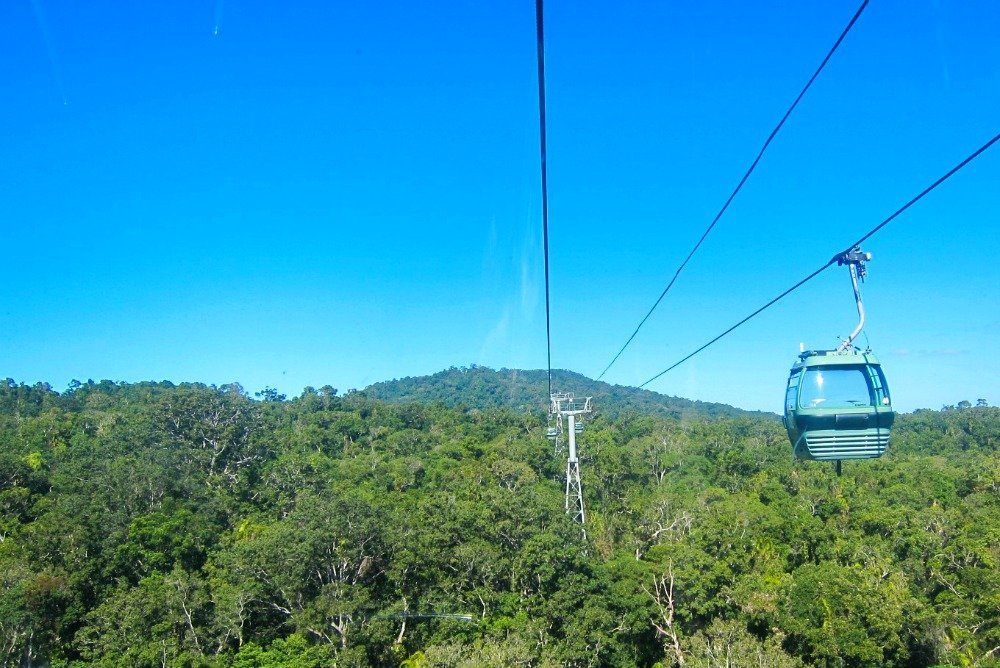 Skyrail treetops Tropical North Queensland