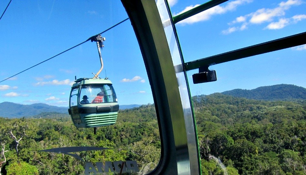 Skyrail leaving Kuranda Tropical North Queensland